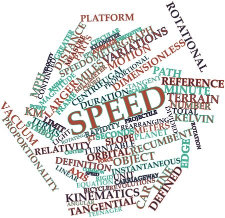 dimensionless: Abstract word cloud for Speed with related tags and terms