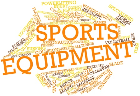 Abstract word cloud for Sports equipment with related tags and terms photo