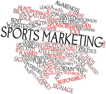 councils: Abstract word cloud for Sports marketing with related tags and terms