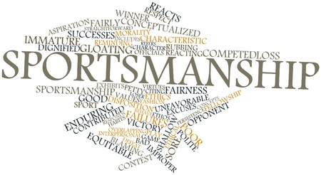 sportsmanship: Abstract word cloud for Sportsmanship with related tags and terms
