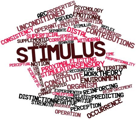 distal: Nube de palabras de estímulo abstracto para con las etiquetas y términos relacionados