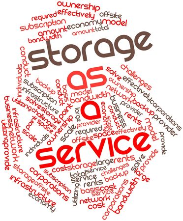 cost basis: Abstract word cloud for Storage as a service with related tags and terms