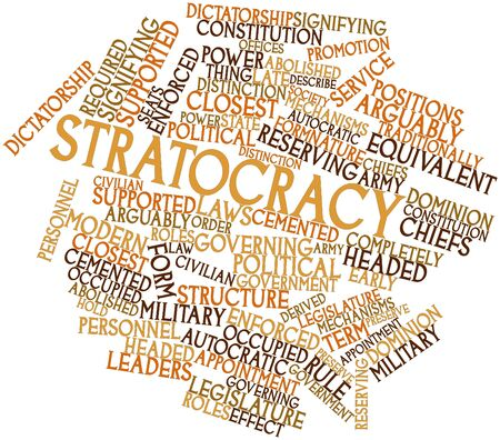 dominion: Abstract word cloud for Stratocracy with related tags and terms