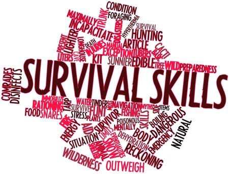 überleben: Abstraktes Wort cloud for Survival Skills mit verwandten Tags und Begriffe Lizenzfreie Bilder