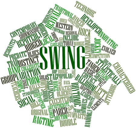 Abstract word cloud for Swing with related tags and terms Stock Photo - 16720960