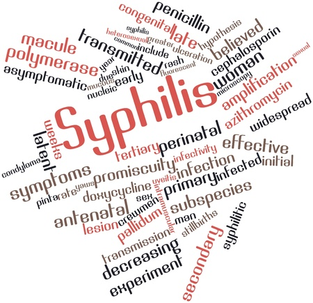 Abstract word cloud for Syphilis with related tags and terms Stock Photo - 16720051