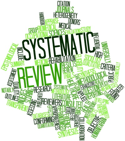 Abstract word cloud for Systematic review with related tags and terms Stock Photo - 16720877