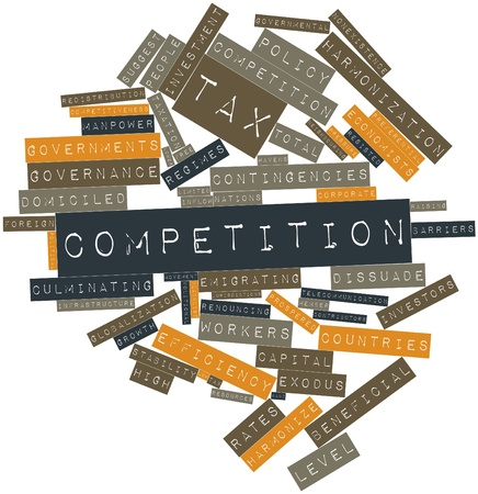 exemptions: Abstract word cloud for Tax competition with related tags and terms