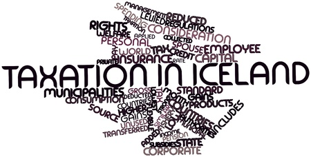 Abstract word cloud for Taxation in Iceland with related tags and terms photo