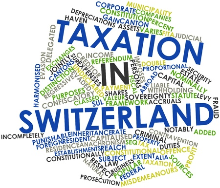 Abstract word cloud for Taxation in Switzerland with related tags and terms Stock Photo - 16720556
