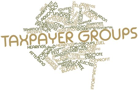 taxpayer: Abstract word cloud for Taxpayer groups with related tags and terms