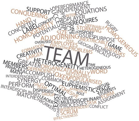 heterogeneity: Abstract word cloud for Team with related tags and terms