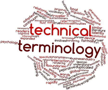 colloquial: Abstract word cloud for Technical terminology with related tags and terms