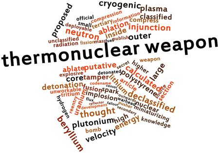 Abstract word cloud for Thermonuclear weapon with related tags and terms Stock Photo - 16719637