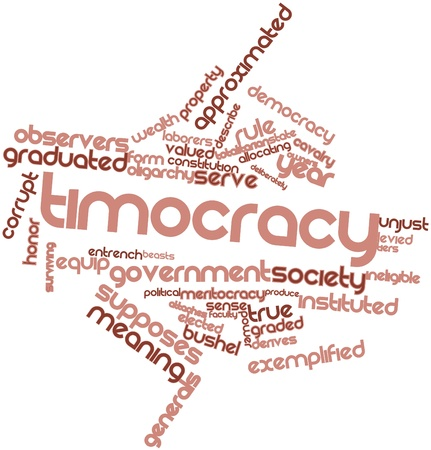Abstract word cloud for Timocracy with related tags and terms Stock Photo - 16719565