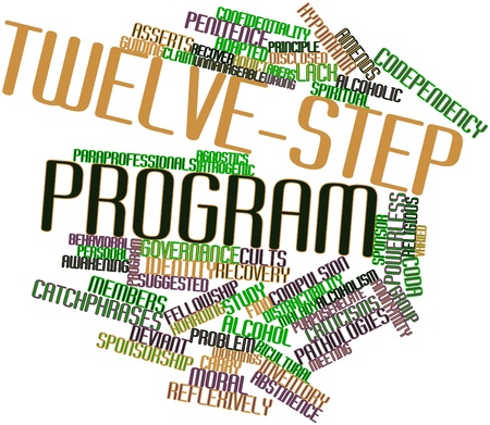 Abstract word cloud for Twelve-step program with related tags and terms Stock Photo - 16720765