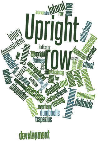 Abstract word cloud for Upright row with related tags and terms Stock Photo - 16720349