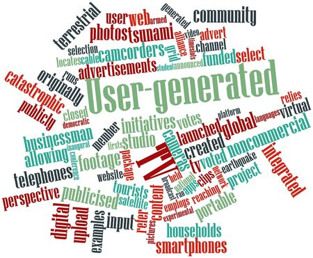 launched: Abstract word cloud for User-generated TV with related tags and terms