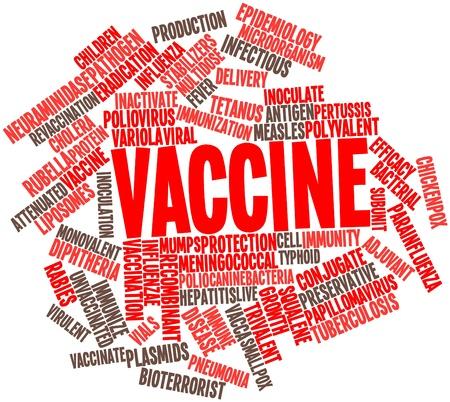 colera: Nube palabra abstracta para Vacunas con etiquetas y términos relacionados Foto de archivo