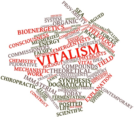 immaterial: Abstract word cloud for Vitalism with related tags and terms