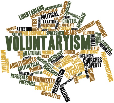 abolitionists: Abstract word cloud for Voluntaryism with related tags and terms