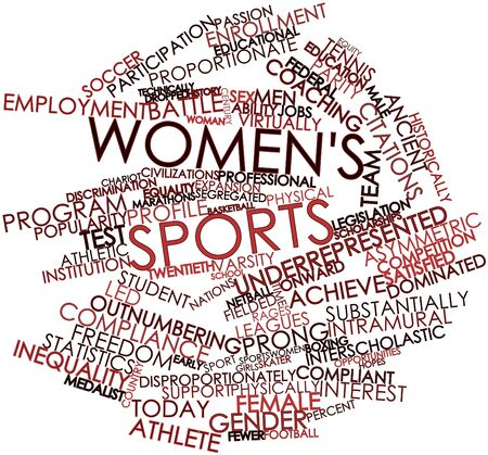 Abstract word cloud for Women's sports with related tags and terms Stock Photo - 16720924