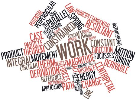 curvilinear: Abstract word cloud for Work with related tags and terms Stock Photo