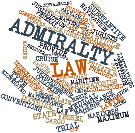 jurists: Abstract word cloud for Admiralty law with related tags and terms