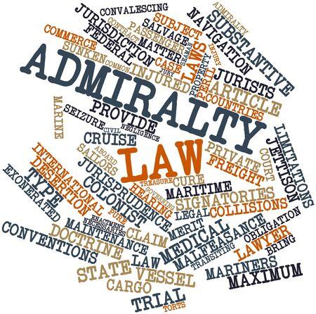 soumis: Nuage de mot abstrait du droit Amirauté avec des étiquettes et des termes connexes