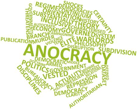 characterised: Abstract word cloud for Anocracy with related tags and terms