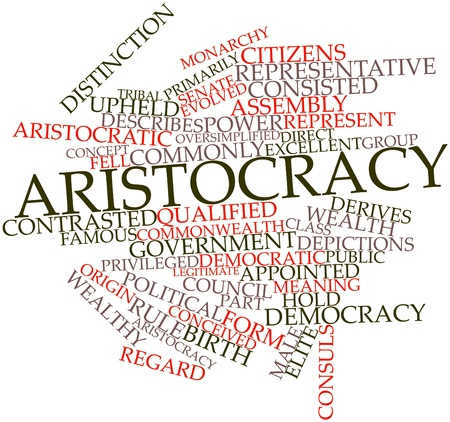 Abstract word cloud for Aristocracy with related tags and terms Stock Photo - 16739164