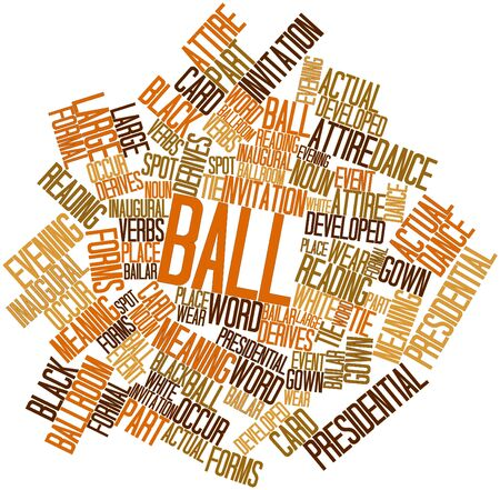 formal wear: Abstract word cloud for Ball with related tags and terms