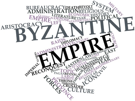 Abstract word cloud for Byzantine Empire with related tags and terms Stock Photo - 16738935