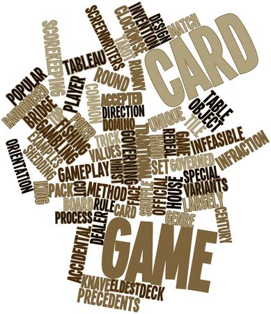 shedding: Abstract word cloud for Card game with related tags and terms Stock Photo