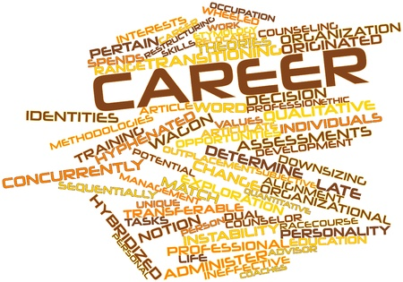 Abstract word cloud for Career with related tags and terms Stock Photo - 16739167