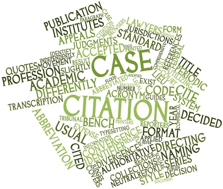 Abstract word cloud for Case citation with related tags and terms