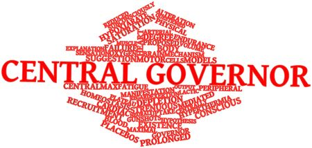 Abstract word cloud for Central governor with related tags and terms