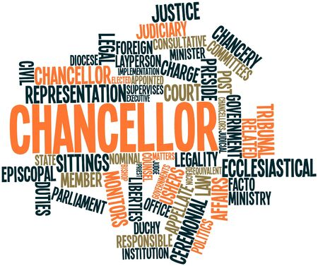 Abstract word cloud for Chancellor with related tags and terms Stock Photo - 16739022