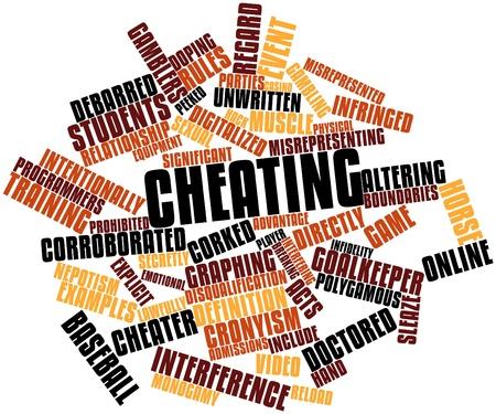 observational: Nube palabra abstracta para Cheating con etiquetas y t�rminos relacionados