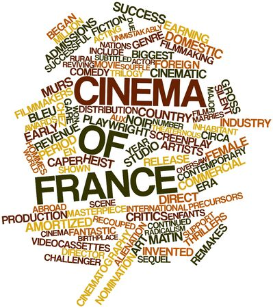 admissions: Abstract word cloud for Cinema of France with related tags and terms