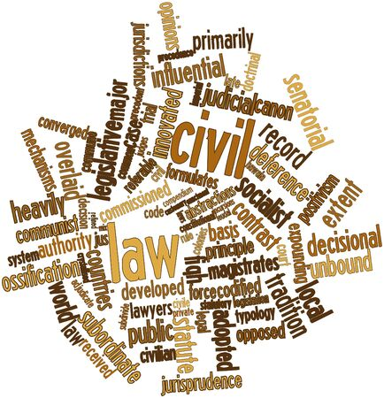 adjudicate: Abstract word cloud for Civil law with related tags and terms