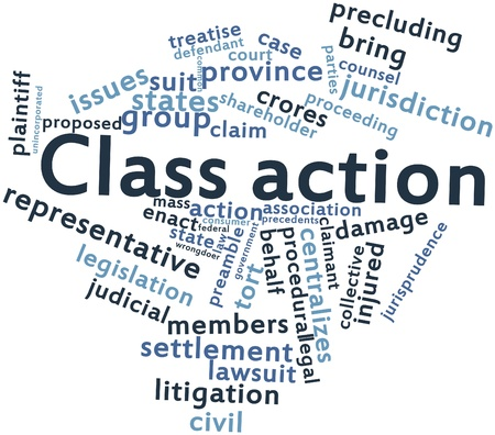 to sue: Abstract word cloud for Class action with related tags and terms