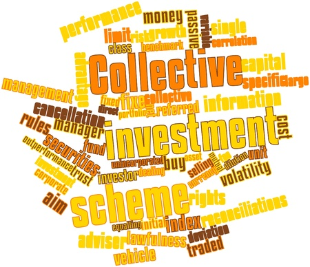 recognised: Abstract word cloud for Collective investment scheme with related tags and terms