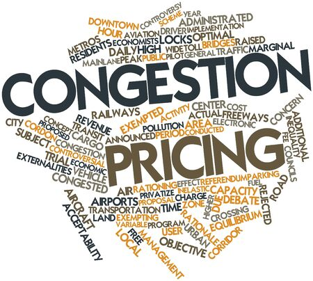 Abstract word cloud for Congestion pricing with related tags and terms Stock Photo - 16739141