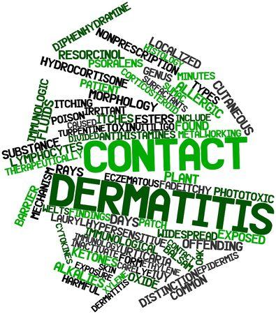 pokrzywka: Abstract cloud słowo kontaktowe zapalenie skóry z powiązanych tagów oraz warunków