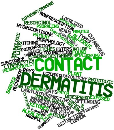 implicated: Abstract word cloud for Contact dermatitis with related tags and terms