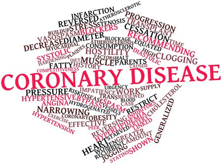 fatty: Abstract word cloud for Coronary disease with related tags and terms