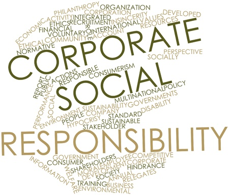 Abstract word cloud for Corporate social responsibility with related tags and terms Stock Photo