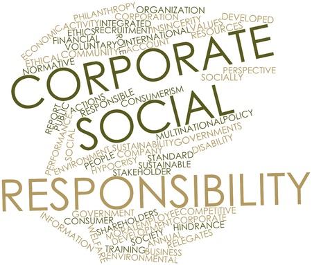 responsabilidad: Nube palabra abstracta para la responsabilidad social de las empresas con las etiquetas y términos relacionados
