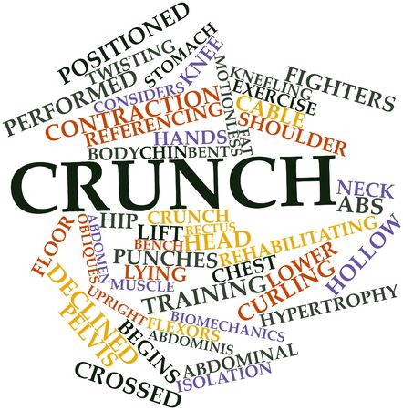 Abstract word cloud for Crunch with related tags and terms Stock Photo - 16739127